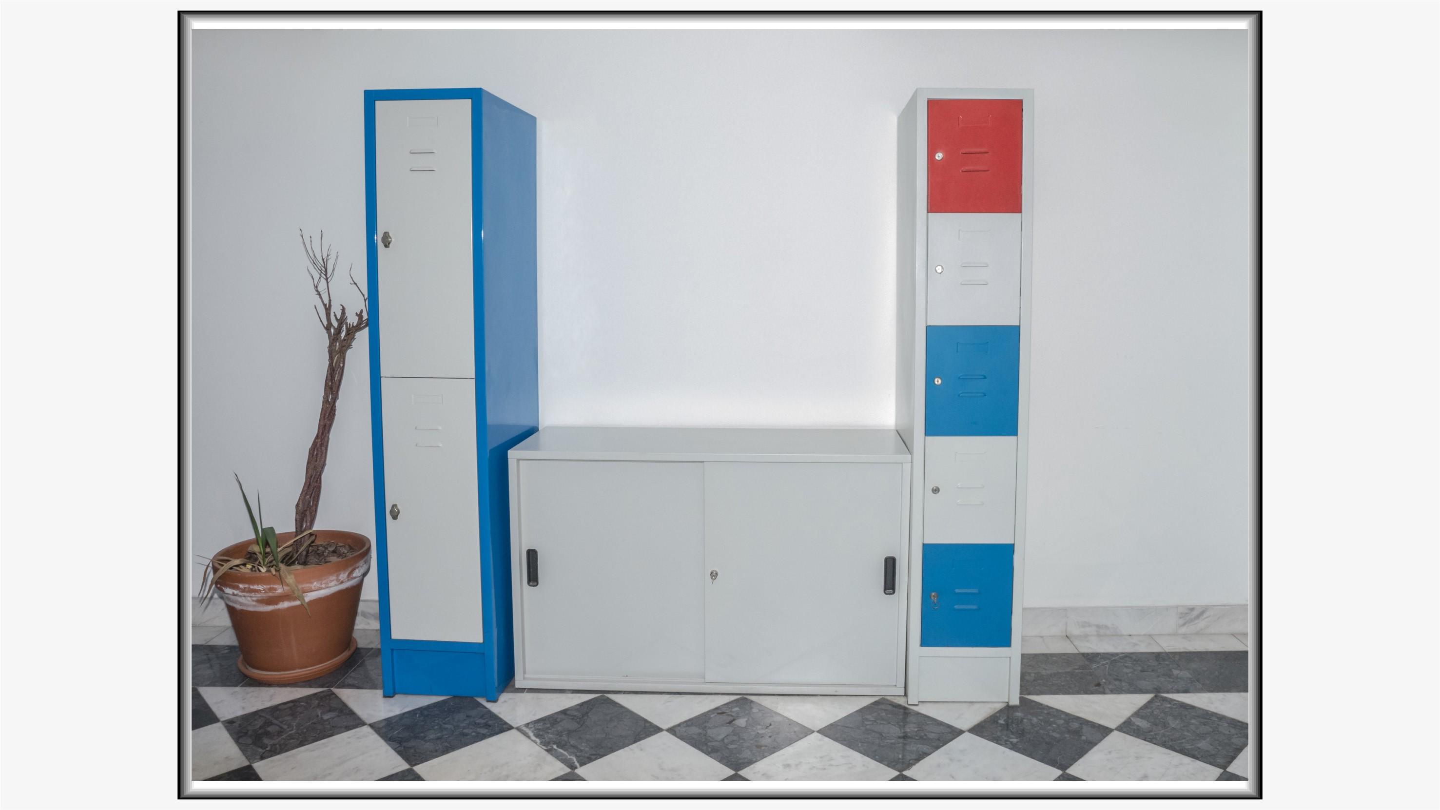 Kasetni garderobni ormani i komoda sa kliznim vratima
