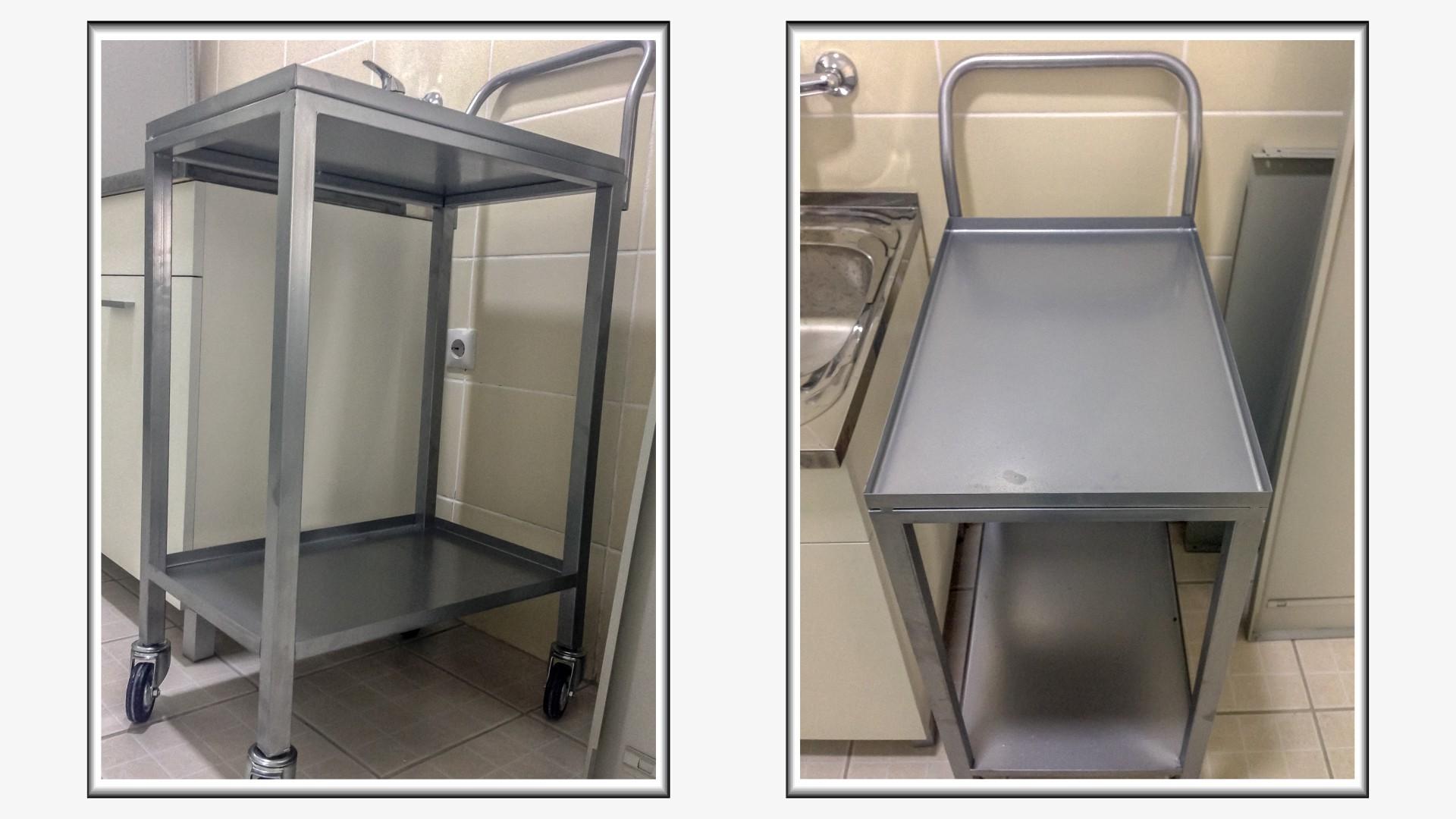 Metalna kolica za instrumente u veterini